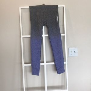 Gymshark ombre tights purple grey size medium